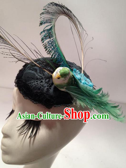 Top Grade Miami Deluxe Hair Accessories Feather Hair Accessories, Halloween Headdress Brazilian Carnival Occasions Handmade Top Hat Headwear for Women
