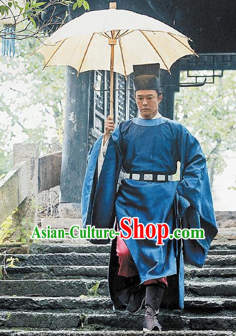Traditional Ancient Chinese High-ranking Official Costume and Headpiece Complete Set, China Song Dynasty Nobility Officer Bao Zheng Embroidered Robes