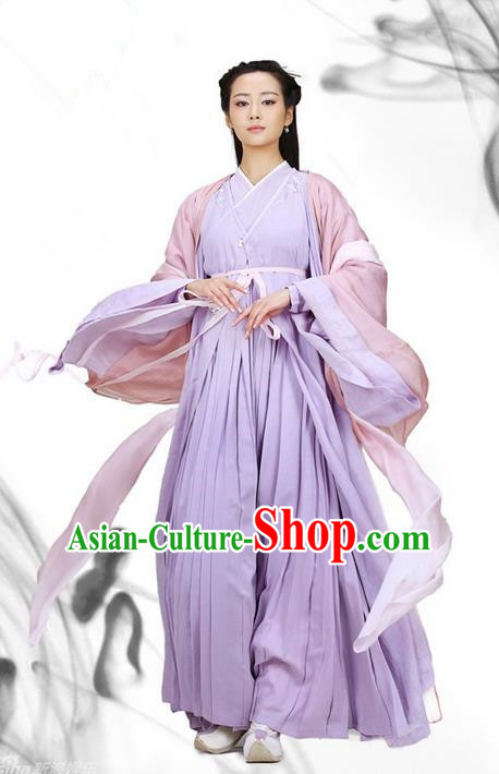 Traditional Ancient Chinese Imperial Princess Costume, Elegant Hanfu Clothing Chinese Han Dynasty Tailing Embroidered Clothing for Women