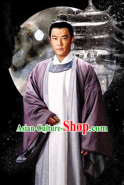 Traditional Asian Chinese Ancient Song Dynasty Civil Governor Robe Costume, China Elegant Hanfu Clothing Bao Zheng Gwanbok and Headpiece Complete Set