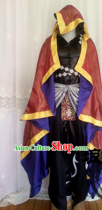 Asian Chinese Traditional Cospaly Costume, China Elegant Hanfu Swordsman Clothing for Men