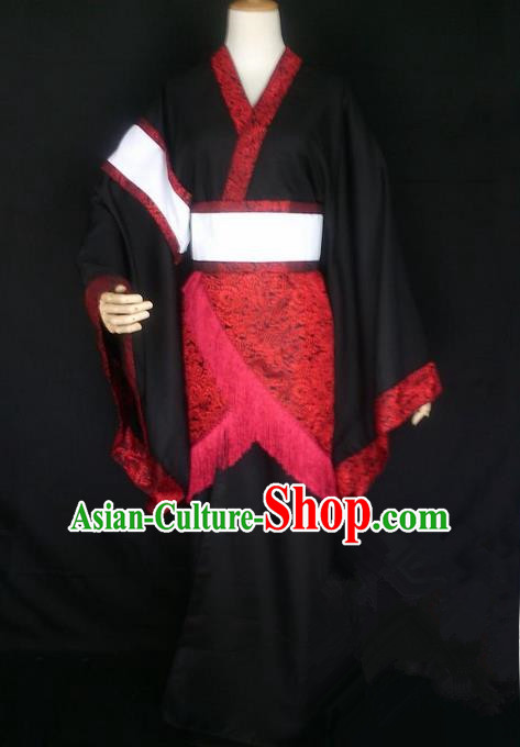 Asian Chinese Traditional Cospaly Han Dynasty Princess Costume, China Elegant Hanfu Fairy Queen Dress for Women