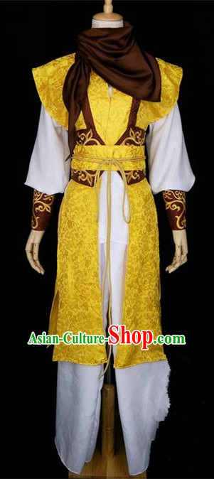 Asian Chinese Traditional Cospaly Han Dynasty Swordsman Costume, China Elegant Hanfu Prince Robe Clothing for Men