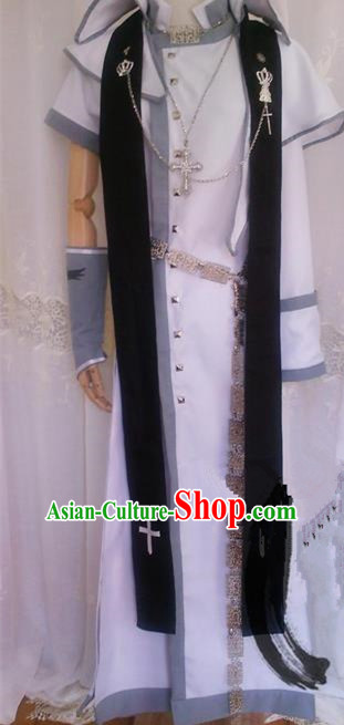 Asian Chinese Traditional Cospaly Three Kingdoms Male Costume, China Elegant Hanfu Prince Clothing for Men