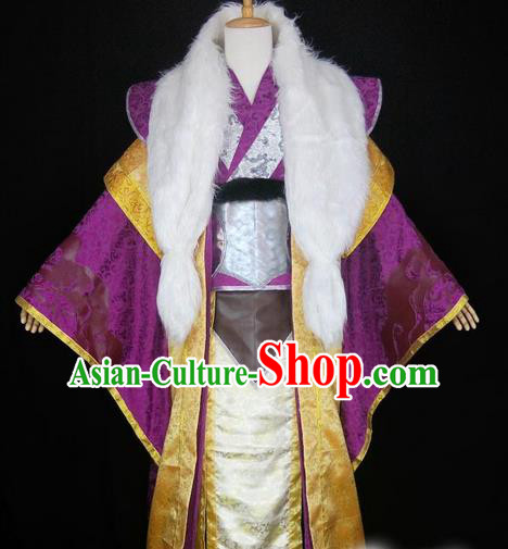 Asian Chinese Traditional Cospaly Han Dynasty Royal Highness Costume, China Elegant Hanfu Nobility Childe Green Robe Clothing for Men