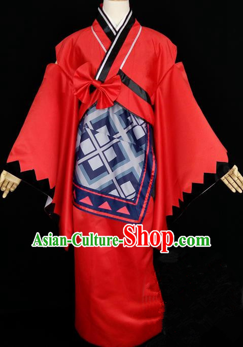 Asian Chinese Traditional Cospaly Han Dynasty Empress Costume, China Elegant Hanfu Peri Red Dress Clothing for Women