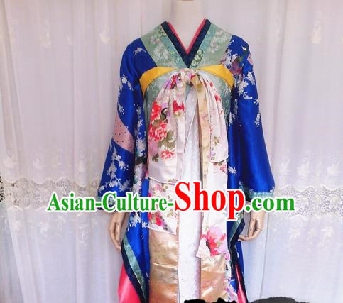 Asian Chinese Traditional Cospaly Tang Dynasty Oiran Costume, China Elegant Hanfu Palace Lady Dress Clothing for Women