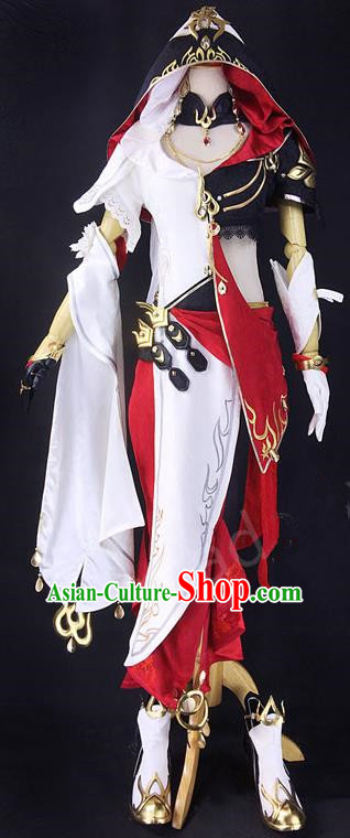 Asian Chinese Traditional Cospaly Customization Ming Dynasty Kung Fu Instructor Costume, China Elegant Hanfu Knight-errant General Embroidered Clothing for Women