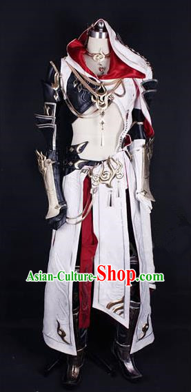 Asian Chinese Traditional Cospaly Costume Customization Ming Dynasty Royal Highness Costume, China Elegant Hanfu Swordsman Armour Clothing for Men