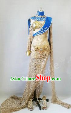 Asian Chinese Traditional Cospaly Costume Customization Beggars Sect Dress Costume, China Elegant Hanfu Swordsman Clothing for Women