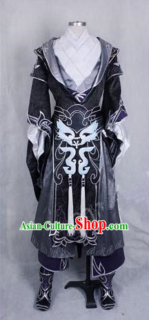 Asian Chinese Traditional Cospaly Customization Ming Dynasty General Costume, China Elegant Hanfu Knight-errant Embroidered Clothing for Men