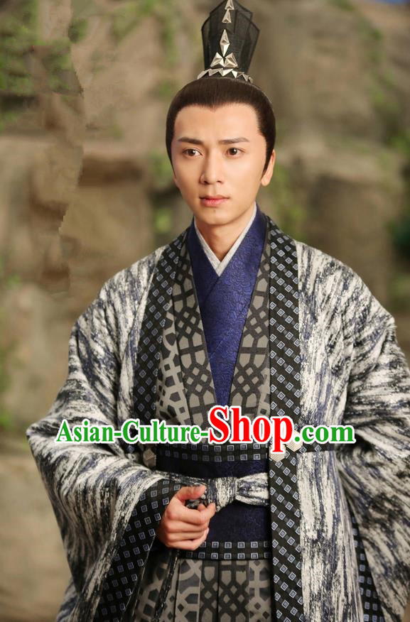 Asian Chinese Traditional Ancient Aristocratic Childe Costume, Lost Love In Times China Northern and Southern Dynasties Prince Robe Clothing
