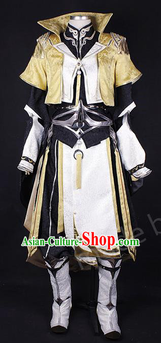 Asian Chinese Traditional Cospaly Costume Customization Knight Costume, China Elegant Hanfu Swordsman Clothing for Men