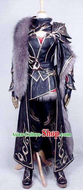 Asian Chinese Traditional Cospaly Costume Customization Ancient Female Swordsman General Costume Complete Set, China Elegant Hanfu Saintess Warrior Clothing for Women