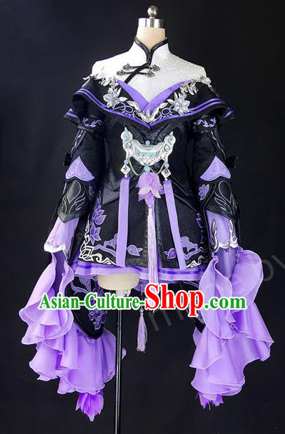 Asian Chinese Traditional Cospaly Costume Customization Ancient Young Lady Costume Complete Set, China Elegant Hanfu Swordsman Dress Clothing for Women