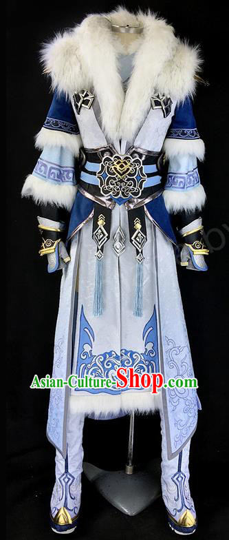 Asian Chinese Traditional Cospaly Costume Customization Ancient Nobility Childe Costume Complete Set, China Elegant Hanfu Swordsman Prince Clothing for Men