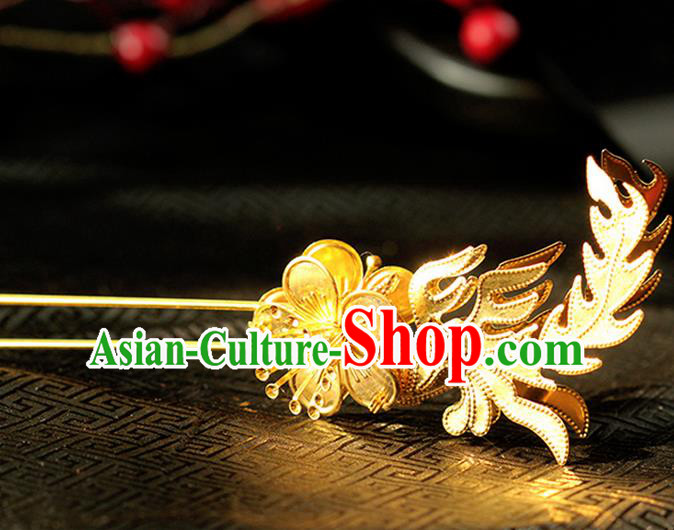 Chinese Ancient Style Hair Jewelry Accessories Wedding Hair Stick Step Shake, Hanfu Xiuhe Suits Bride Handmade Hairpins for Women