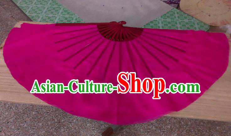 Pure Silk Traditional Chinese Fans Oriental Rosy Ribbon Fan Folk Dance Cultural Yangko Dance Hand Fan