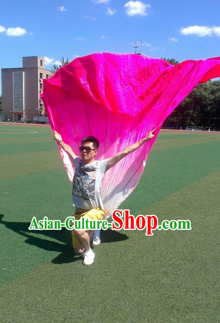 Traditional Chinese Fans Oriental Peony Flowers Large Folding Fan Folk Dance Cultural Yangko Dance Hand Fan
