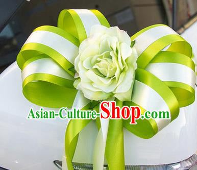 Top Grade Wedding Accessories Decoration, China Style Wedding Car Ornament Green Flowers Bride Ribbon Garlands