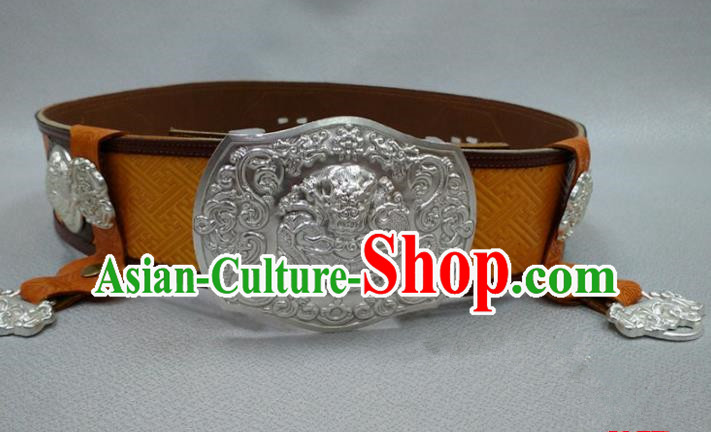Traditional Handmade Chinese Mongol Nationality Handmade Belt, China Mongols Mongolian Minority Nationality Accessories Waistband for Women