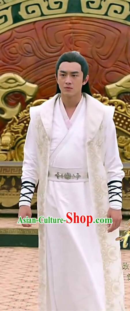 Traditional Ancient Chinese Kawaler Robe Clothing, Princess Agents Chinese Southern and Northern Dynasties Prince Costume and Headpiece Complete Set