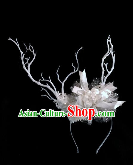 Top Grade Chinese Theatrical Luxury Headdress Ornamental Hair Clasp, Halloween Fancy Ball Ceremonial Occasions Handmade Headwear for Women