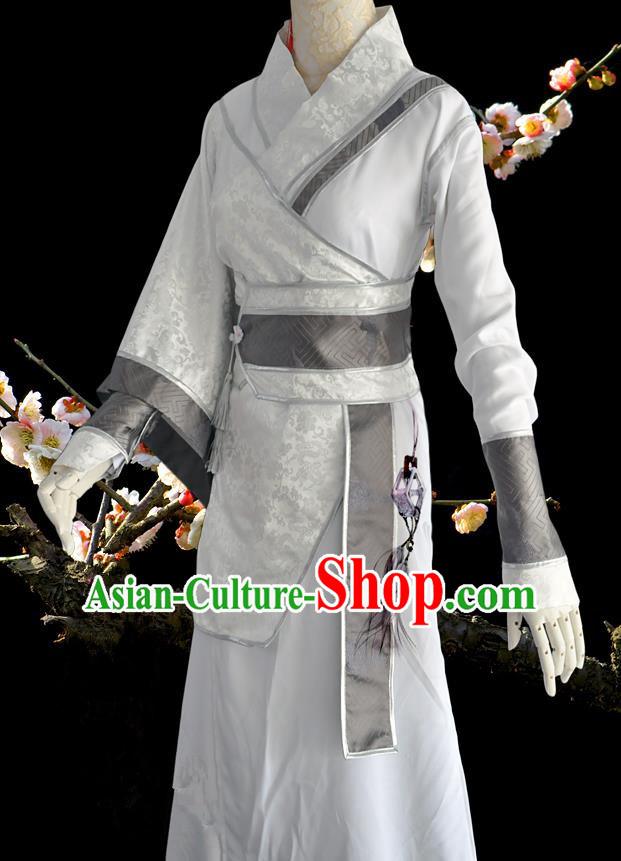 Chinese Ancient Cosplay Costumes, Chinese Traditional Embroidered Clothing Chinese Cosplay Swordsman Knight Costume for Men