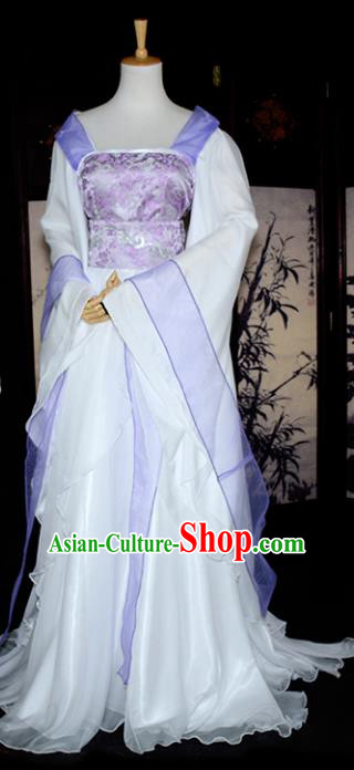 Chinese Ancient Cosplay Tang Dynasty Imperial Princess Clothing, Chinese Traditional Hanfu Dress Chinese Cosplay Swordswoman Costume for Women