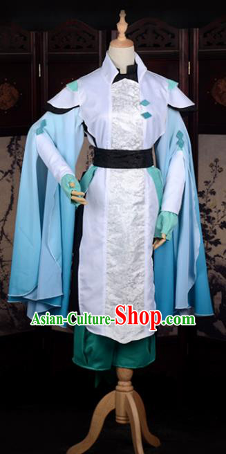 Chinese Ancient Cosplay Han Dynasty Childe Dress, Chinese Traditional Hanfu Clothing Chinese Swordsman Costume for Men