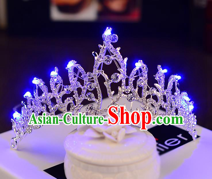 Top Grade Handmade Chinese Classical Hair Accessories Baroque Style Shine Crystal Queen Royal Crown, Hair Sticks Hair Jewellery Hair Coronet for Women