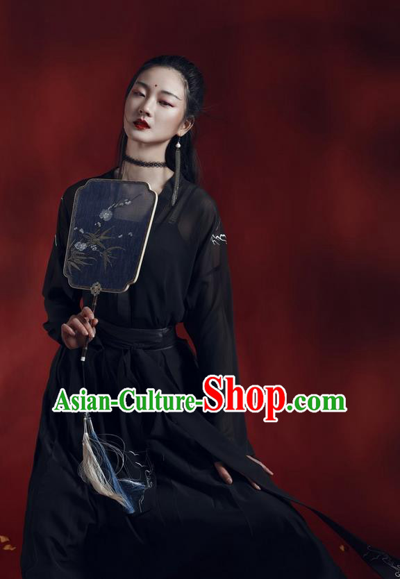 Traditional Ancient Chinese Costume Ming Dynasty Young Lady Embroidery Blouse and Dress, Elegant Hanfu Clothing Chinese Palace Princess Costume for Women