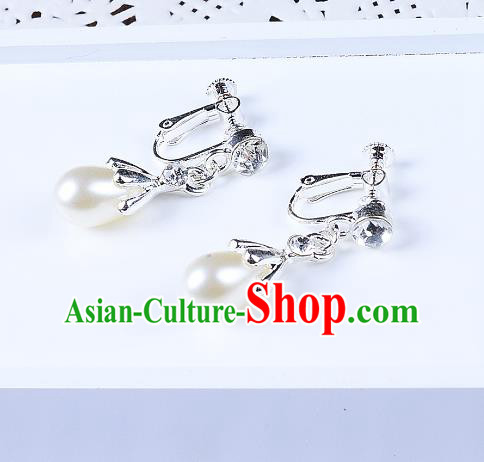 Top Grade Handmade Chinese Classical Jewelry Accessories Queen Wedding Pearls Tassel Earrings Bride Eardrop for Women