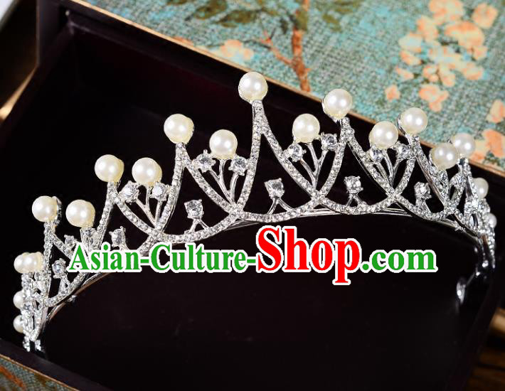 Top Grade Handmade Hair Accessories Baroque Style Palace Princess Wedding Crystal Zircon Vintage Royal Crown, Bride Hair Kether Jewellery Imperial Crown for Women