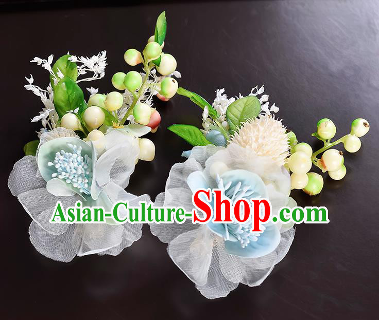 Top Grade Handmade Chinese Classical Hair Accessories Princess Wedding Baroque Headwear Flowers Hair Claw Hair Claw for Women