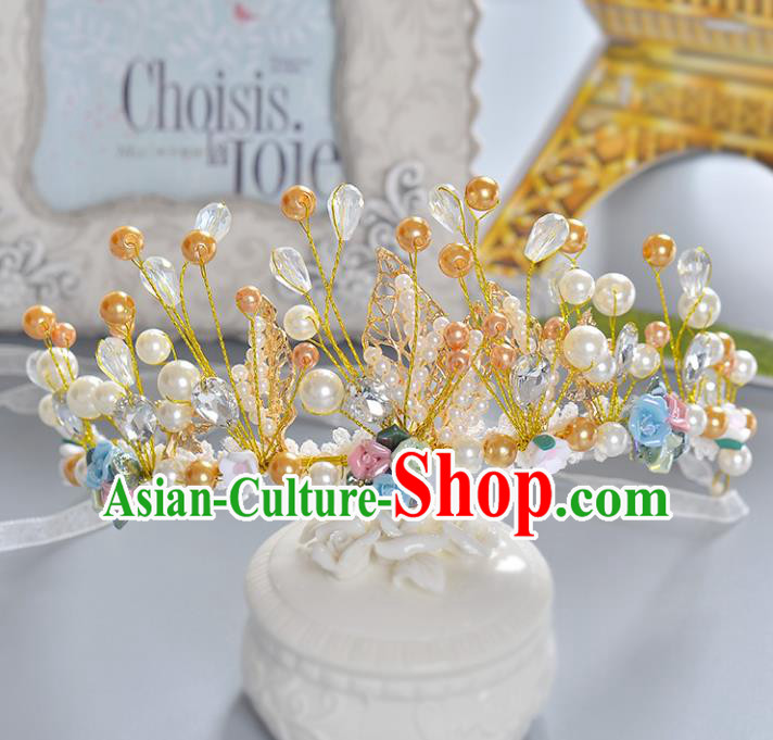 Top Grade Handmade Hair Accessories Baroque Luxury Crystal Beads Royal Crown, Bride Wedding Hair Kether Jewellery Princess Crystal Imperial Crown for Women
