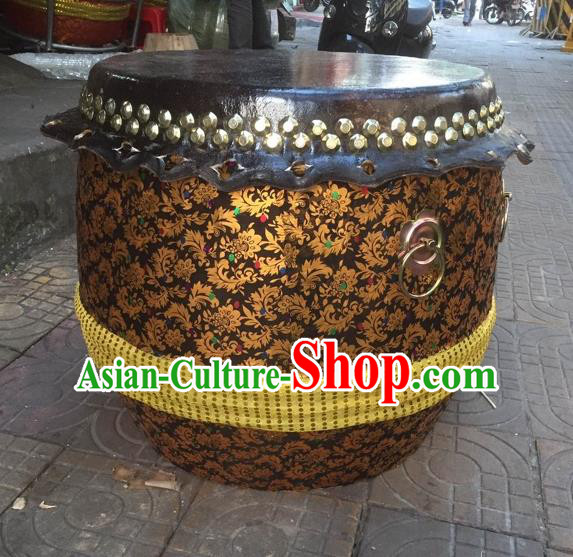 Dragon Dance Lion Dance Drum Cowhide Drum Cart Musical Instrument Tupan Complete Set