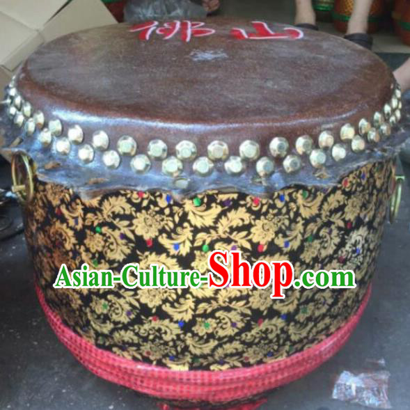 Dragon Dance Lion Dance Black Drum Cowhide Drum Cart Musical Instrument Tupan Complete Set