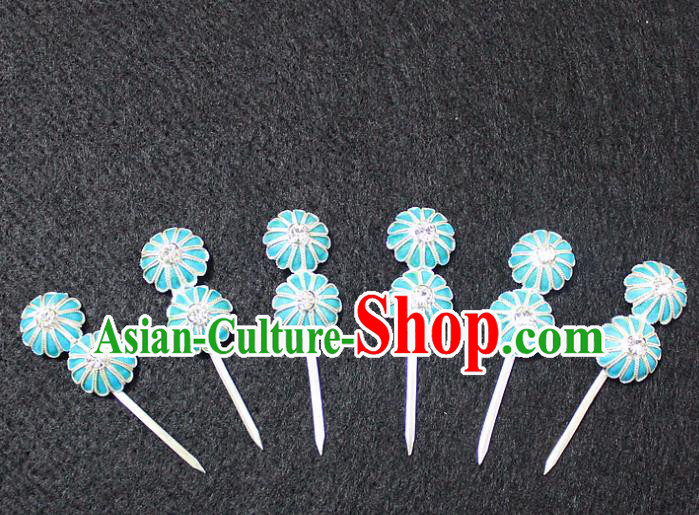 Traditional China Beijing Opera Young Lady Hair Accessories Complete Set, Ancient Chinese Peking Opera Hua Tan Headwear Diva Hairpins