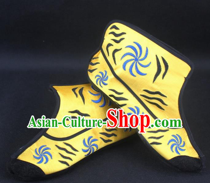 Traditional China Beijing Opera Takefu Shoes, Ancient Chinese Peking Opera Handsome Monkey King Boots