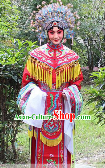 Traditional China Beijing Opera Palace Lady Hua Tan Costume Imperial Concubine Embroidered Robe, Ancient Chinese Peking Opera Female Diva Embroidery Dress Clothing