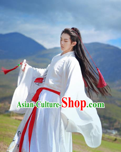 Traditional Ancient Chinese Young Lady Costume Wide Sleeve Cardigan, Elegant Hanfu Clothing Chinese Jin Dynasty Imperial Princess Tailing Embroidered Dress Clothing for Women