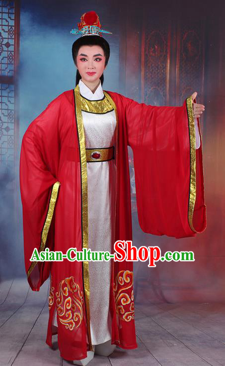 Traditional China Beijing Opera Young Men Costume A Dream in Red Mansions Scholar Embroidered Robe, Ancient Chinese Peking Opera Niche Embroidery Clothing