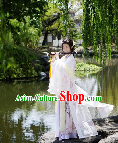 Traditional Chinese Ming Dynasty Imperial Princess Costume Blouse and Skirt, China Ancient Hanfu Dress Young Lady Embroidery Clothing for Women