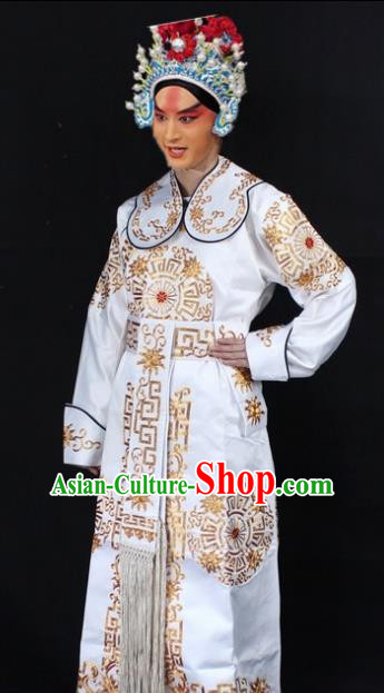 Traditional China Beijing Opera Swordplay Costume Embroidered Clothing, Ancient Chinese Peking Opera Blues Full Embroidery Clothing