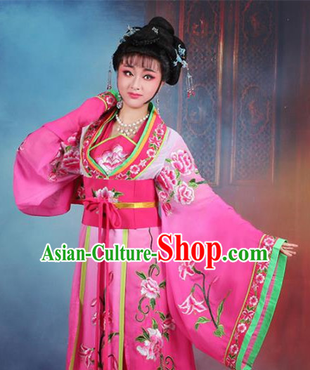 Traditional China Beijing Opera Palace Lady Hua Tan Costume Rosy Embroidered Dress, Ancient Chinese Peking Opera Diva Princess Embroidery Clothing