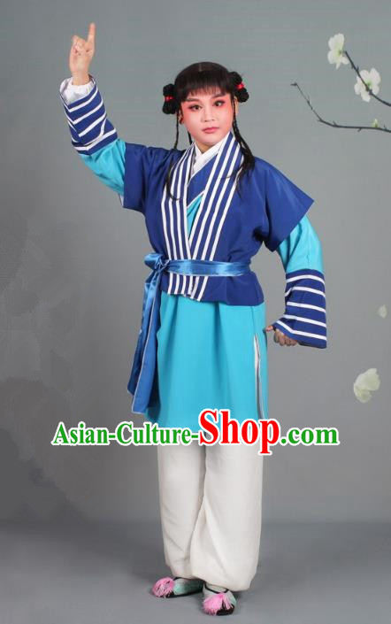 Traditional China Beijing Opera Livehand Costume Scholar Embroidered Navy Robe, Ancient Chinese Peking Opera Book Boy Embroidery Clothing