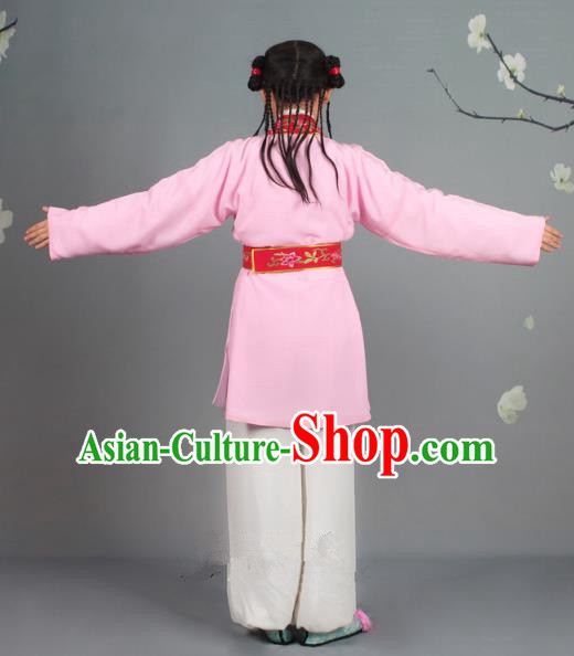 Traditional China Beijing Opera Costume Scholar Embroidered Pink Clothing, Ancient Chinese Peking Opera Boy Book Embroidery Clothing