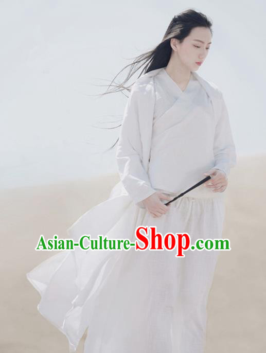 Traditional Chinese Han Dynasty Female Costume, Elegant Hanfu Clothing Chinese Ancient Heroic Woman Dress Clothing