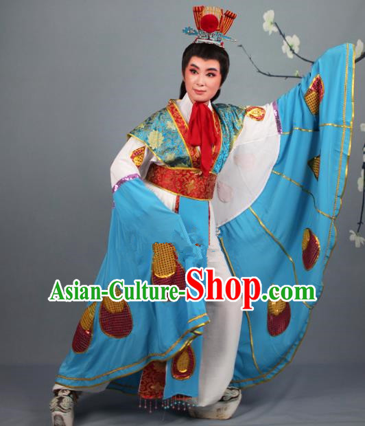Top Grade Professional Beijing Opera Niche Costume Scholar Butterfly Lovers Robe, Traditional Ancient Chinese Peking Opera Embroidery Clothing